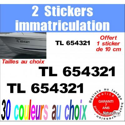 2 stickers immatriculation ref 4 hors bord bateau p che jet ski et voilier moteurs 1511222. Black Bedroom Furniture Sets. Home Design Ideas