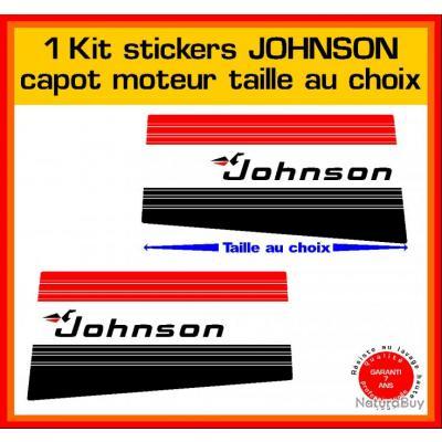 1 kit sticker JOHNSON capot moteur ref 2 série 5 hors bord bateau barque pêche