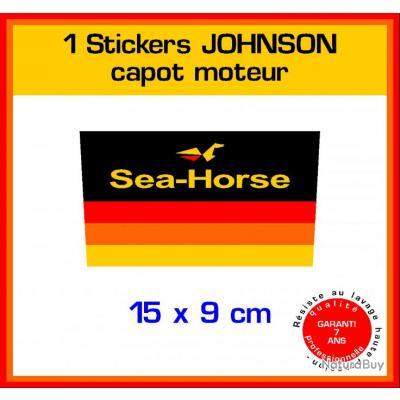 1 sticker johnson ref 10 capot moteur hors bord bateau - Housse capot moteur hors bord ...