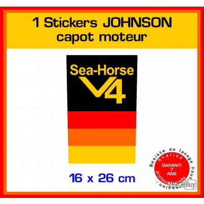 1 sticker johnson ref 12 capot moteur hors bord bateau - Housse capot moteur hors bord ...