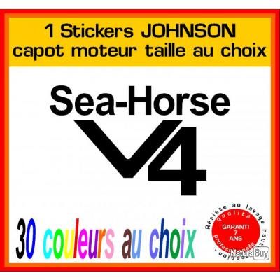 1 sticker johnson ref 5 capot moteur hors bord bateau - Housse capot moteur hors bord ...