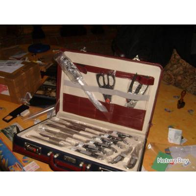 valise boucher solingen muller ideal chasseur apprenti boucher boucher cuisinier couteaux de. Black Bedroom Furniture Sets. Home Design Ideas