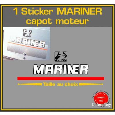 1 sticker mariner capot moteur s rie 2 ref 3 hors bord - Housse capot moteur hors bord ...