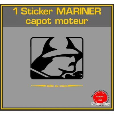 1 sticker mariner serie 2 ref 5 capot moteur hors bord - Housse capot moteur hors bord ...