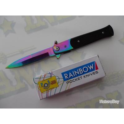 couteau de poche arc en ciel