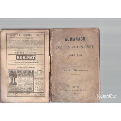 - almanach de la jeunesse, 1895, tours mame, 280 pages