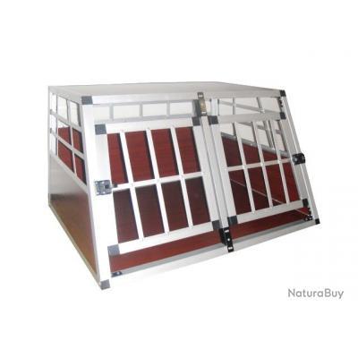 cage pour 2 chiens en bois et aluminium cages caisses sacs et remorques de transport 1606539. Black Bedroom Furniture Sets. Home Design Ideas