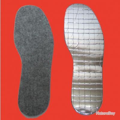 semelles amovibles grands froids pour bottes et chaussures alu feutre de laine semelles et. Black Bedroom Furniture Sets. Home Design Ideas
