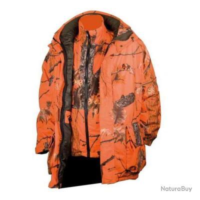 471 - Veste chaude 3 en 1 camouflage orange Fire G2