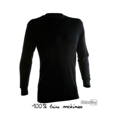 Maillot Manches Longues 100 Laine Merinos Special Grand Froid La