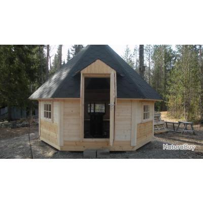 Kota avec grill integr murs plats de 9 5m2 15 for Abri de jardin bois moins de 5m2