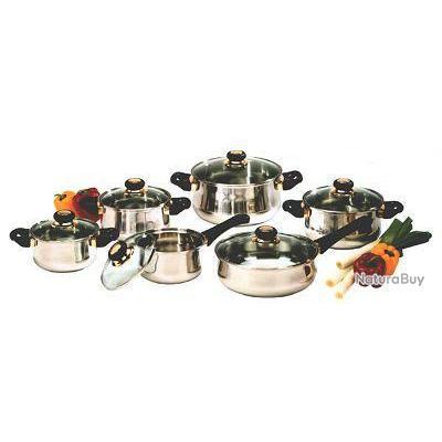 Batterie 12 pi ces inox mat riel de cuisine 1711188 for Materiel cuisine inox