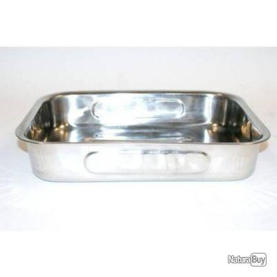 Plat a four rectangulaire crealys inox 32 x 24 x 6 cm for Plat cuisine inox