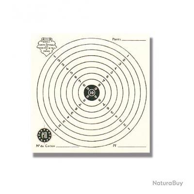1000 cartons-cibles 16 x 16 cm