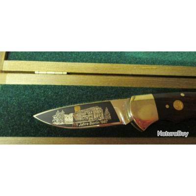 Couteau PUMA mod. 750 ans Berlin. Seulement 750 pièces fabriquées en 1987