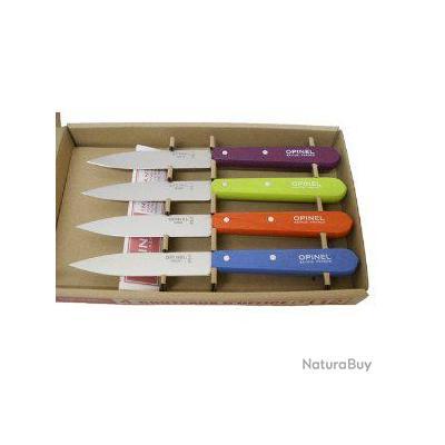 opinel lot de 4 couteaux office couleur n 112 couteaux de table et de cuisine 1718424. Black Bedroom Furniture Sets. Home Design Ideas