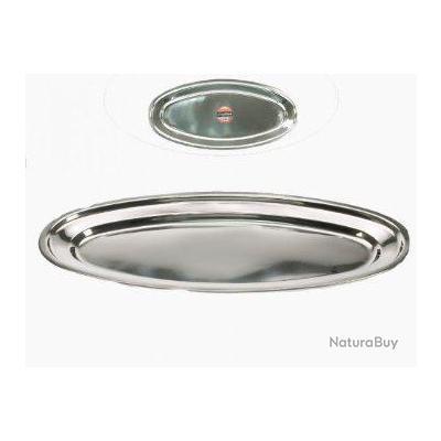 Plat ovale en inox poisson four service table longueur for Plat cuisine inox