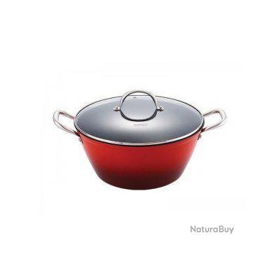 Casserole de 24cm avec couvercle en verre mat riel de cuisine 1726425 - Couvercle casserole en verre ...