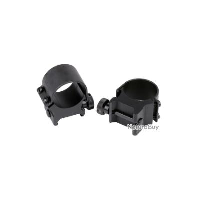 Collier top mount 25,4mm haut noir