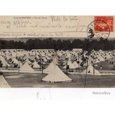 Carte postale ancienne 02 camp de sissonne vue des for Sissonne 02
