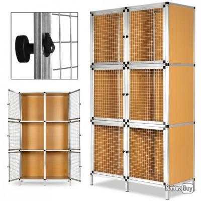 Cage clapier lapin elevage 6 boxes lapins rongeurs for Cage a lapin exterieur
