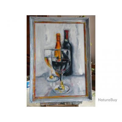 tableau peinture acrylique avec cadre divers 1803597. Black Bedroom Furniture Sets. Home Design Ideas
