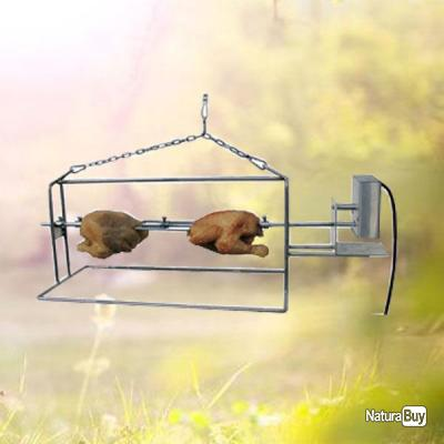 original bbq tournebroche suspendu ou poser en inox avec moteur barbecue 1811463. Black Bedroom Furniture Sets. Home Design Ideas