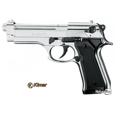 Pistolet mod 92 nickel kimar arme de d fense cal 9mm p a k for Arme defense maison