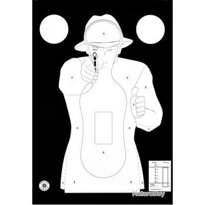 Cible Silhouette Police Paquet de 10 Fond Noir