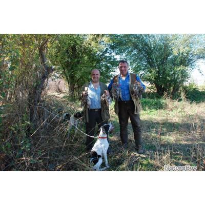 Chasse devant soi aux perdreaux gris sauvages en Macédoine