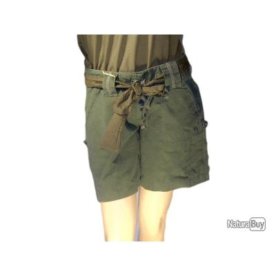 Short Vintage Kaki  Femme Taille L