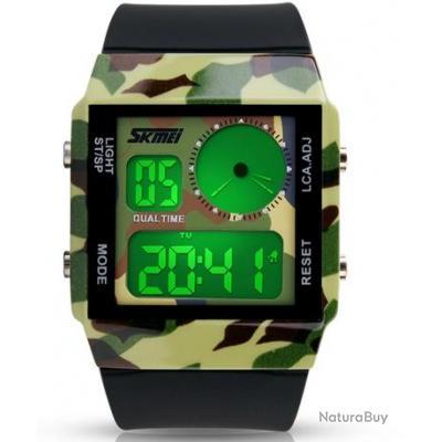 montre sport militaire army arm e homme digitale led multifonction chronom tre skmei montres. Black Bedroom Furniture Sets. Home Design Ideas