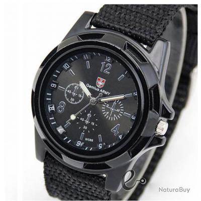 montre militaire homme arm e suisse gemius army bracelet tissu watch montres 1871856. Black Bedroom Furniture Sets. Home Design Ideas