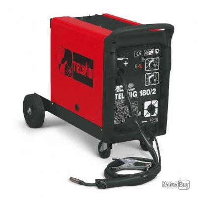 Telwin - Poste à souder sur roues MIG-MAG 170A livré avec kit accessoires - Telmig 180/2