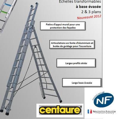 centaure echelle transformable 2 plans 2 x 8 hauteur max. Black Bedroom Furniture Sets. Home Design Ideas