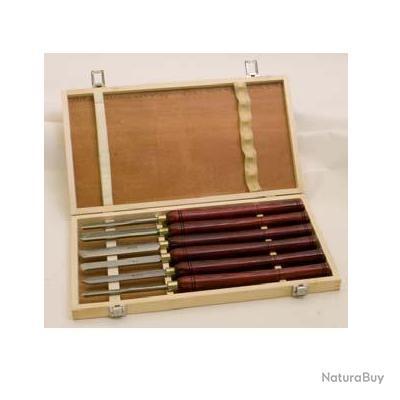scheppach kity jeu de 6 gouges en acier rapide ciseaux bois 1929975. Black Bedroom Furniture Sets. Home Design Ideas