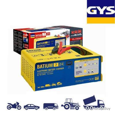 gys chargeur batterie automatique 15 130ah batium chargeur de batterie 1931492. Black Bedroom Furniture Sets. Home Design Ideas