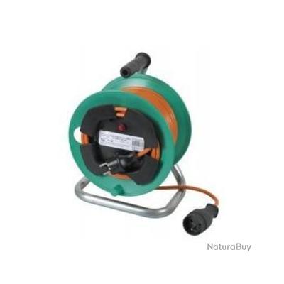 Ribiland enrouleur lectrique 25m 3x1 5 pied plastique preej25315v rallonge lectrique - Rallonge electrique 25m ...