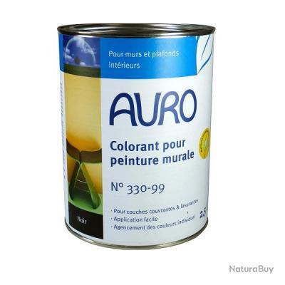 Auro colorant pour peinture murale teinte noire 2 5 l n 330 99 peinture int rieure for Peinture murale noire