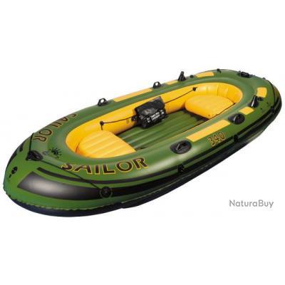 Bateau de p che pneumatique sailor 340 3m40 gonflable avec support de canne - Bateau pneumatique enfant ...