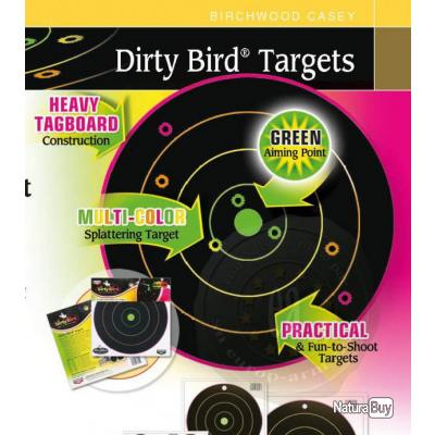 cibles air comprimé 4.5 mm Dirty Birds Multicolors 10 cibles x 30 cms !