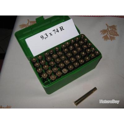Lot de 50 étuis cal 9,3 x74 R tirés 1 fois