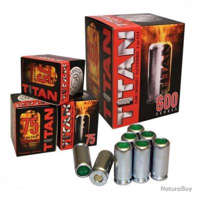 Boite  de 600 Cartouches à Blanc  TITAN  UMAREX Cal. 9 mm PISTOLET