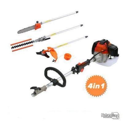 Superbe Kit débroussailleuse complet orange 4 en 1 taille-haie tronçonneuse Neuf brush cutter new