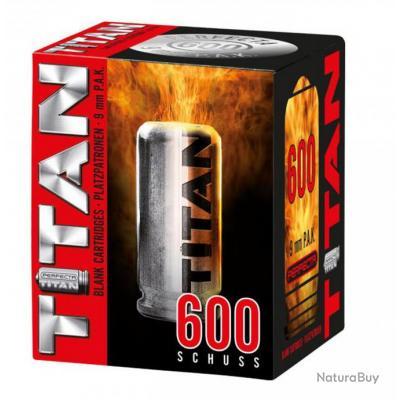 Boite de 600 Cartouches à Blanc TITAN UMAREX Cal 9mm PAK