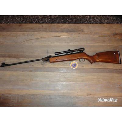 carabine air comprim neuve avec lunette et boite de plomb air rifle 4 5 mm carabines plomb. Black Bedroom Furniture Sets. Home Design Ideas