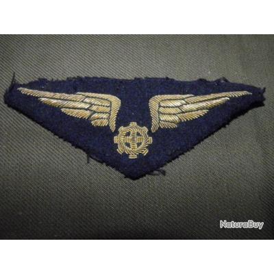 Insigne mécanicien embarqué Armée de l'air INDOCHINE-Algérie Cannetille
