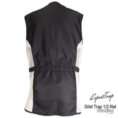 Gilet de Trap 1/2 Filet Rouge et Noir Gaucher