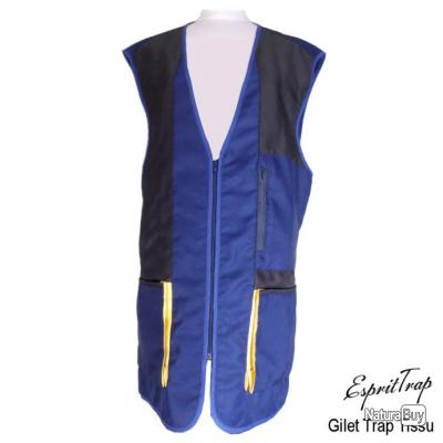 Gilet de Trap Tissu Bleu Royal & Marine Gaucher