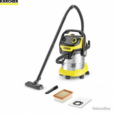 karcher aspirateur eau et poussi re inox 25l 1100w. Black Bedroom Furniture Sets. Home Design Ideas